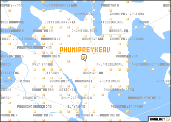 map of Phumĭ Prey Kéav