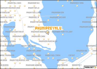 map of Phumĭ Prey Mlu