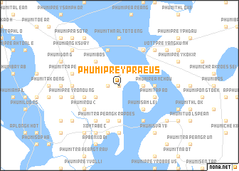 map of Phumĭ Prey Praeus