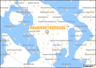 map of Phumĭ Prey Rônoŭng