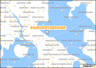 map of Phumĭ Prey Sâmphôr