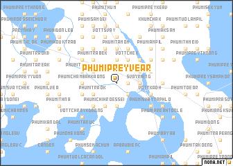 map of Phumĭ Prey Véar