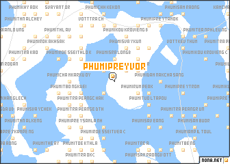 map of Phumĭ Prey Vôr
