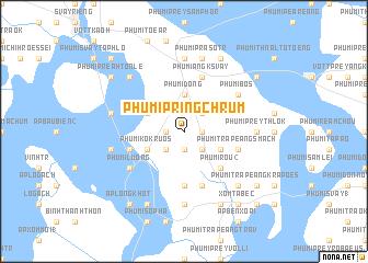 map of Phumĭ Pring Chrum