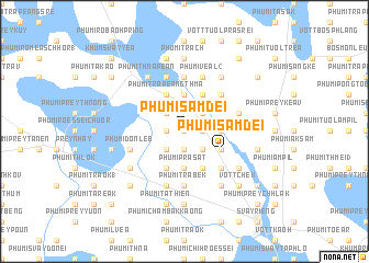 map of Phumĭ Sâmdei