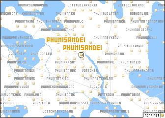 map of Phumĭ Sâmdei