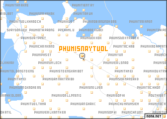 map of Phumĭ Snay Tuŏl