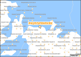 map of Phumĭ Srăh Mkăk