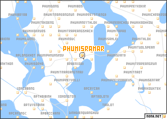 map of Phumĭ Srâmâr