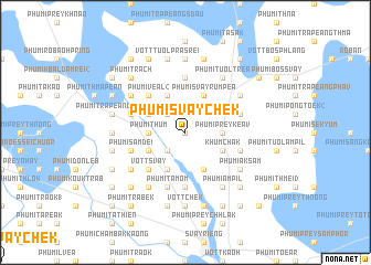 map of Phumĭ Svay Chék