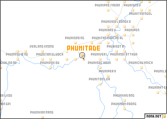 map of Phumĭ Tadé