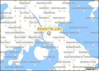 map of Phumĭ Taléan