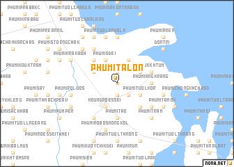 map of Phumĭ Talón