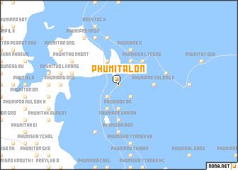 map of Phumĭ Ta Lón
