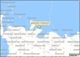 map of Phumĭ Ta Mŭm