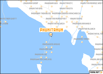 map of Phumĭ Ta Mŭm
