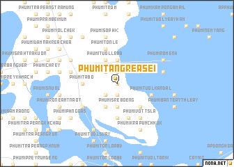 map of Phumĭ Tăng Réasei