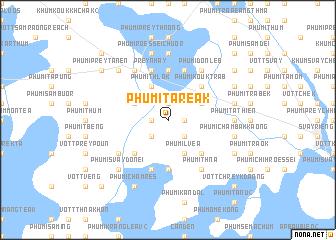 map of Phumĭ Tareăk
