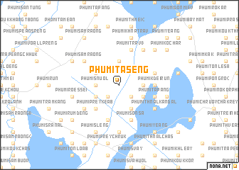 map of Phumĭ Tasêng
