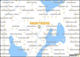 map of Phumĭ Tasêng