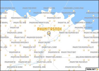 map of Phumĭ Ta Snôk