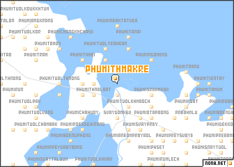 map of Phumĭ Thmâ Krê
