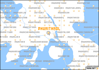 map of Phumĭ Thmól