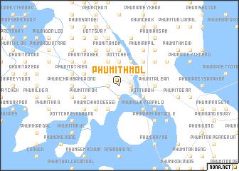 map of Phumĭ Thmól