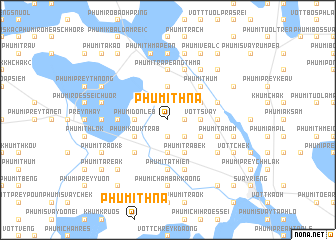 map of Phumĭ Thna