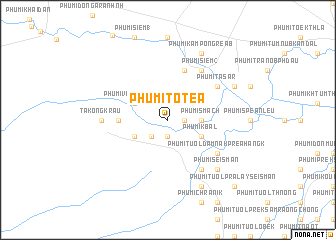 map of Phumĭ Tôtéa