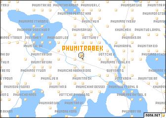 map of Phumĭ Trâbêk