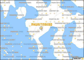 map of Phumĭ Trâkaô