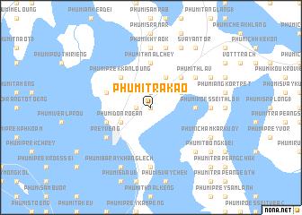 map of Phumĭ Trâkaô
