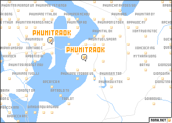 map of Phumĭ Traôk