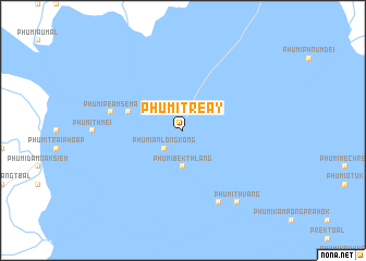 map of Phumĭ Tréay