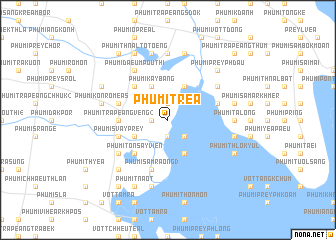 map of Phumĭ Tréa