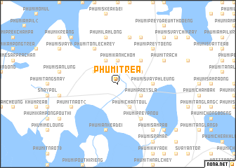 map of Phumĭ Tréa