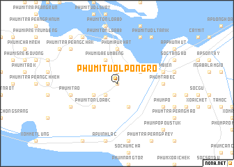 map of Phumĭ Tuŏl Pôngrô