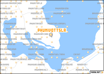map of Phumĭ Vôtt Sla