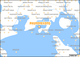 map of Phum Ô Mékông