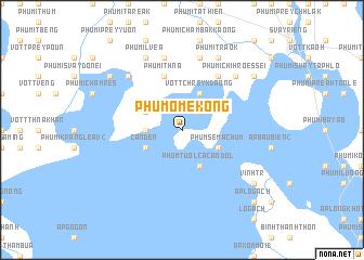 map of Phum Ô Mékông