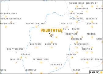 map of Phum Tatée