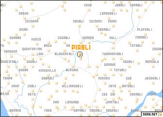 map of Piabli