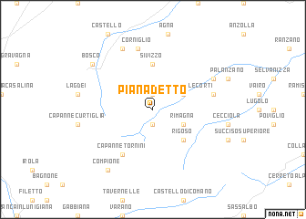 map of Pianadetto