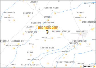 map of Piangipane