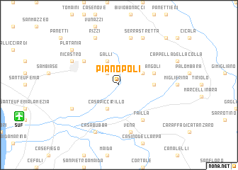 map of Pianopoli