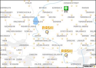 map of Piaski