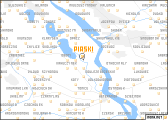 map of Piaski
