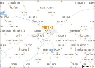 map of Piątki