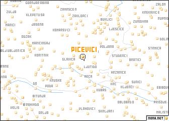 map of Pičevići